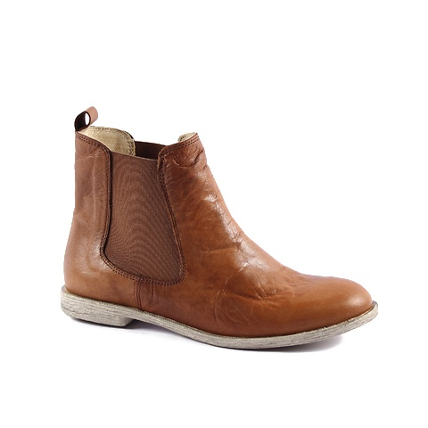 Ankle Boot  Upper: Leather  Colors: Tan, Dark Brown, Black, Soft Red