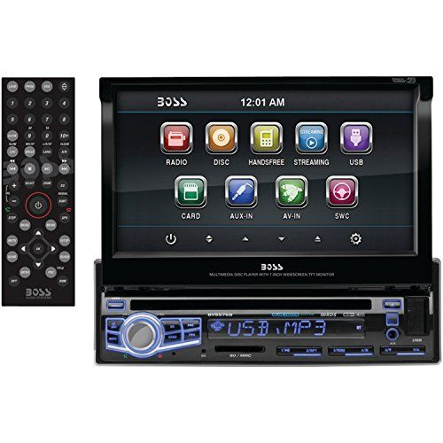 BOSS Audio BV9976B In-Dash Single-Din 7-inch Motorized Touchscreen DVD/CD/USB/SD/MP4/MP3 Player Receiver Bluetooth Streaming Bluetooth Hands-free with Remote BOSS Audio http://www.amazon.com/dp/B00HZA6DPO/ref=cm_sw_r_pi_dp_vk4tvb1KJZAT1