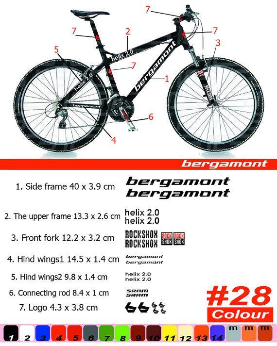 BERGAMONT Bike Frame Sticker/Autocollant от Velomoto на Etsy
