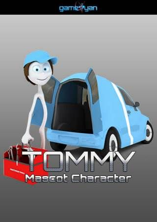 3D Tommy Mascot Character Animation, Rio de Janeiro, Brazil
