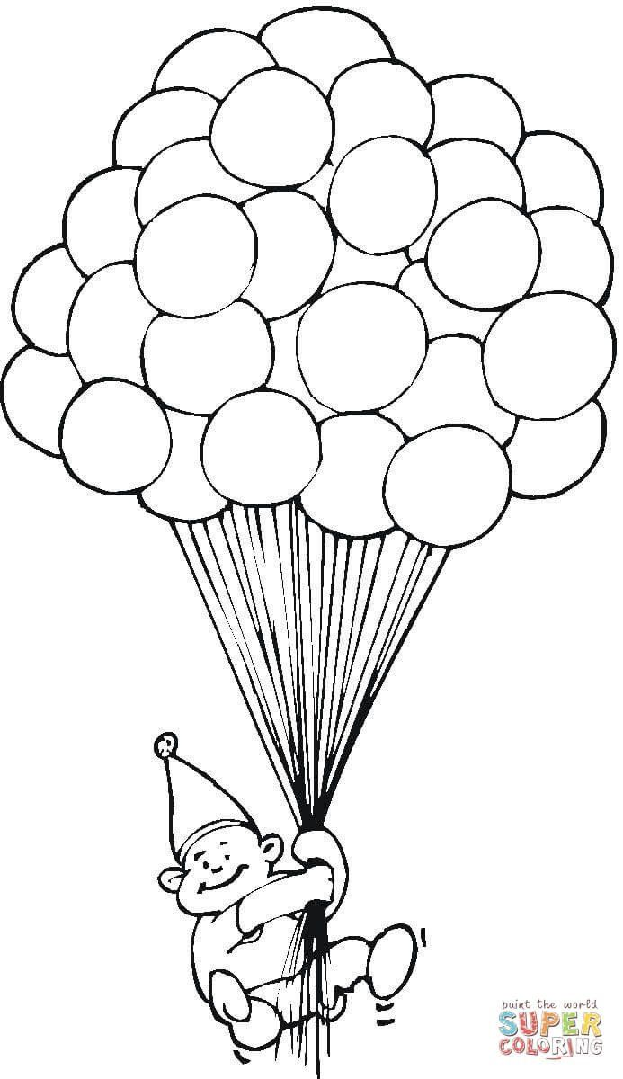 Birthday Balloons Coloring Pages Page Coloring Coloring Page Hundred Balloons Birthday Coloring Pages Happy Birthday Coloring Pages Monster Coloring Pages