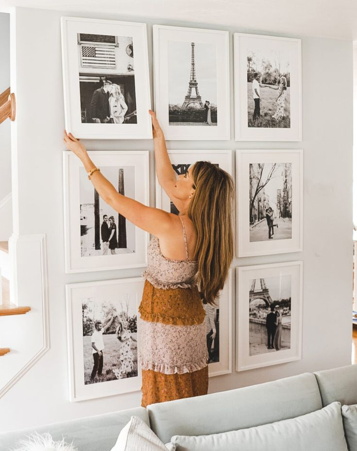 How To Easily Create A Floor To Ceiling Gallery Wall With Framebridge Gallery Wall Wall Galley Wall
