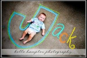 Sidewalk chalk photo ideas