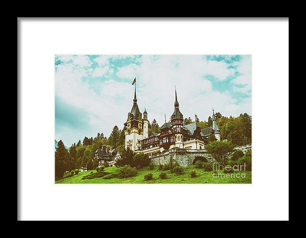 Neo-renaissance Peles Castle Built In 1873 In Carpathian Mountains Framed Print