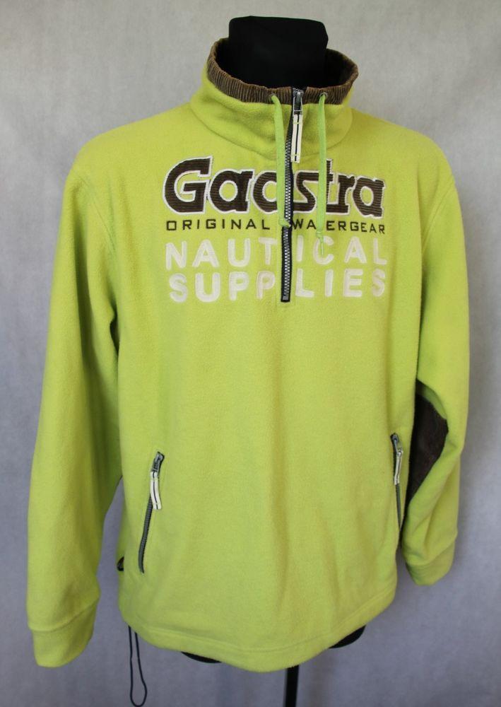 Mens GAASTRA Sailing Offshore Outdoor Fleece Jacket Size XL Lime Green  #Gaastra #FleeceJacket