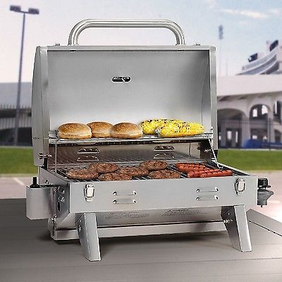Gas Grill BBQ Tabletop Tailgate RV Camping Outdoor Portable Barbecue Camping Boa