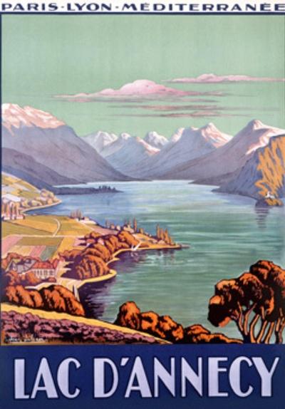 Jonathan Decker Lac D'annecy switzerland travel poster