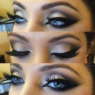 Formal makeup for black dress