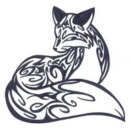 fox animal tattoo idea