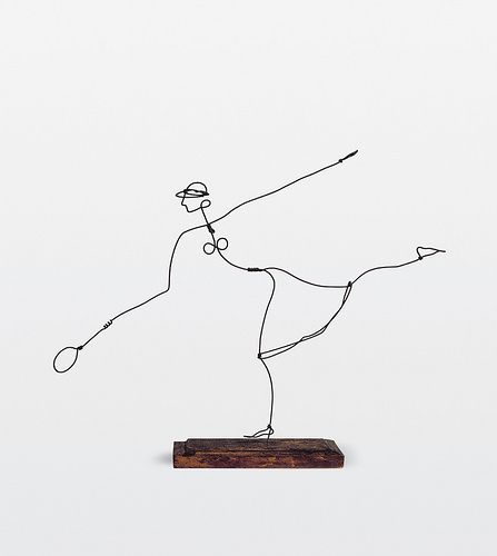 Alexander Calder. Olympic based sculptures? Athletic or dance poses? Gymnastics etc. 5th grade would LOVE THIS! I'm thinking tracing paper/acetate to study contour line then building the forms!