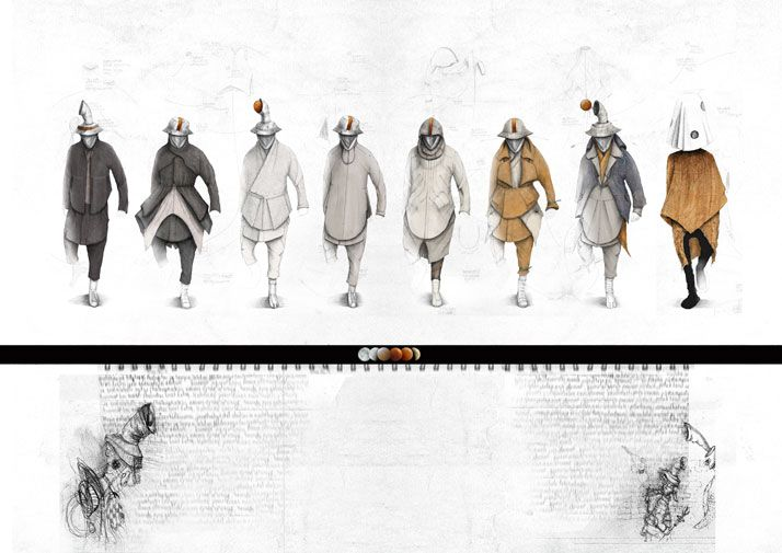Dainius Bendikas.  Illustration. Look Book for A/W 12-13. Fashion sketches for his menswear collection 'Infinite We Are' - The Moon Monk Project for A/W 12-13. Image Courtesy of Dainius Bendikas. Via Yatzer, 04 April 2012. Guest posting.
