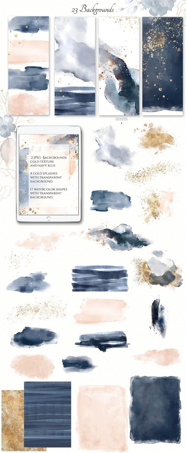 Breeze. Watercolor collection – Illustrations – 5