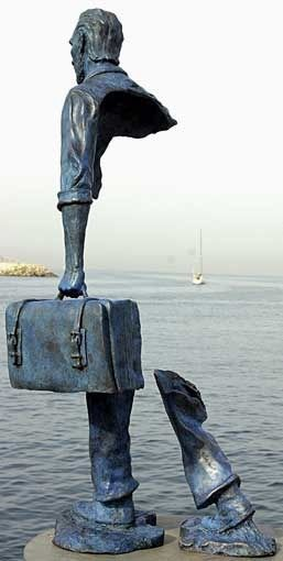 Bruno Catalano's Half Sculptured Travelers | Amusing Planet