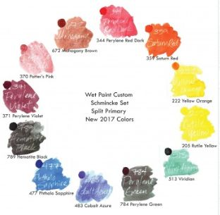 """PRE-ORDER open for Wet Paint's new """"square palette"""" filled with ALL NEW COLORS from Schmincke's 125th birthday release. Click to pre-order."""