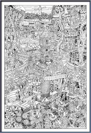 611 best Doodle Art Posters (The 70\'s) images on Pinterest