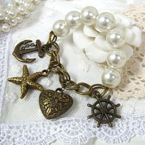 Faux-Pearl Bracelet Copper - One Size
