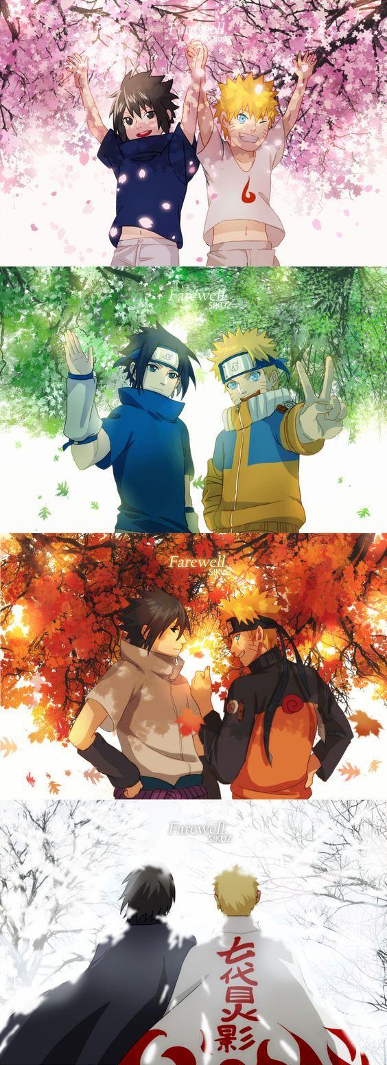 No importan cuales sean los problemas siempre existiran los verdaderos amigos que son como hermanos. Naruto y Sasuke