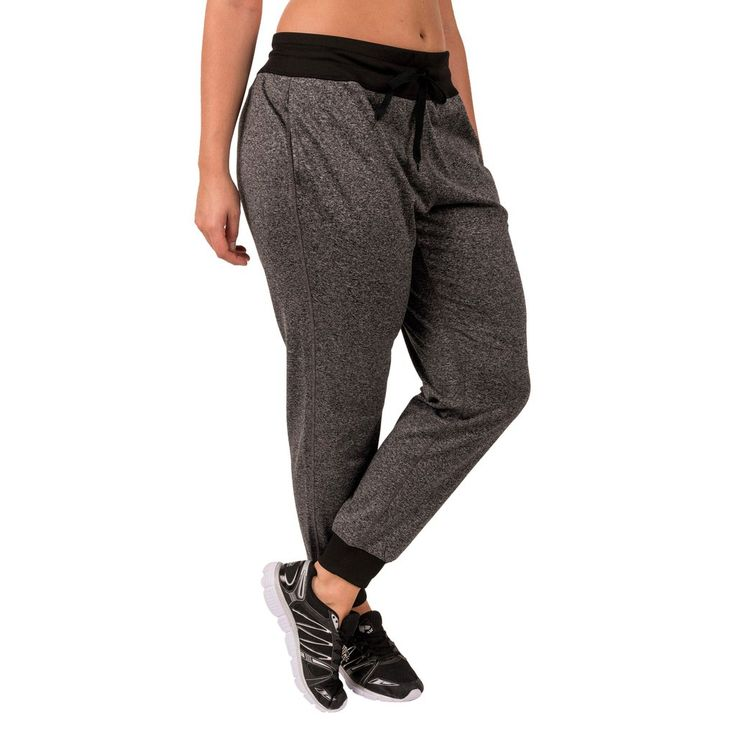 RBX Active Women's Relaxed Fit Tapered Insulated Fleece Jogger Sweatpants GRY 3X