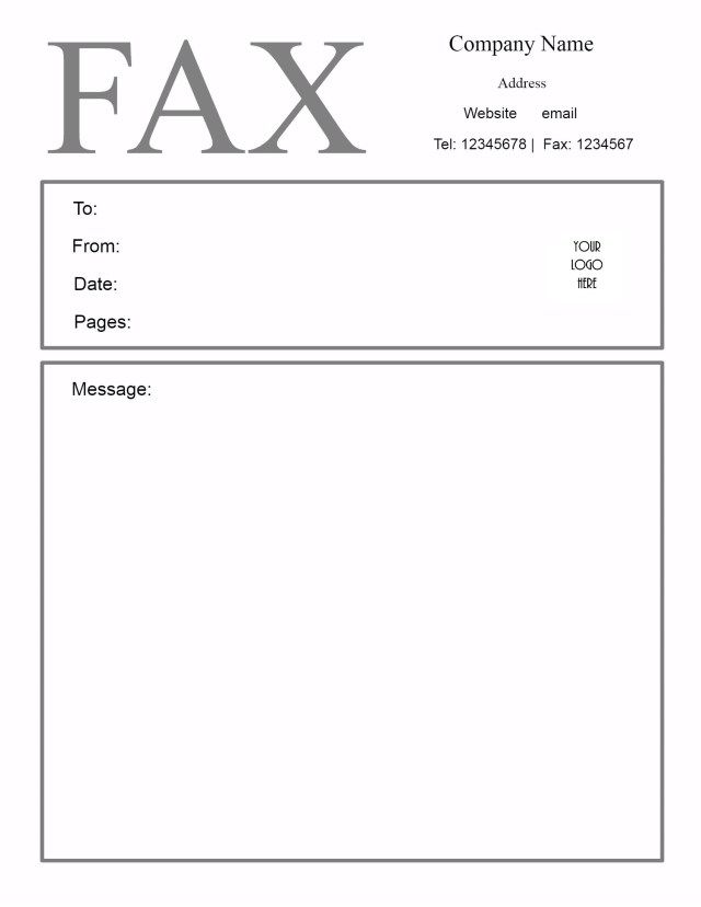 26 Fax Cover Letter Template  Fax Cover Letter Template Free Fax Cover Sheet Template