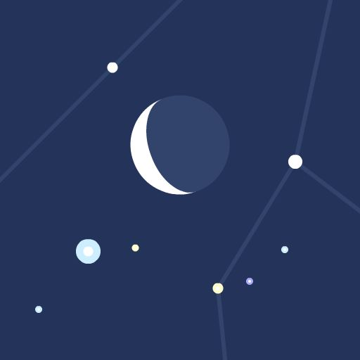 A browser-based virtual planetarium of stars and planets, customizable to any location and time.