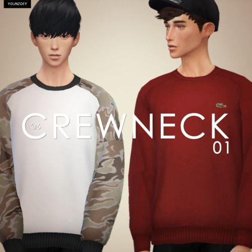 Crew Neck Sweater for The Sims 4
