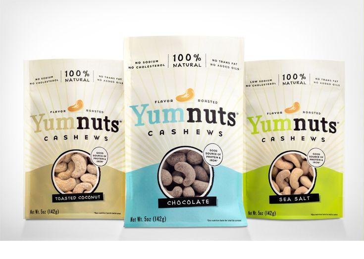 Yumnuts packaging design by Make & Matter