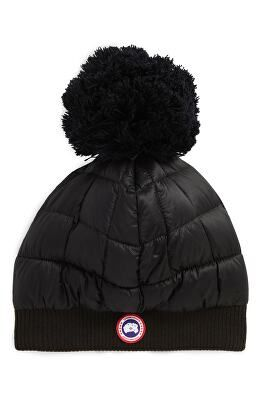 9bf887841b4 CANADA GOOSE Designer Quilted Down Pom Beanie