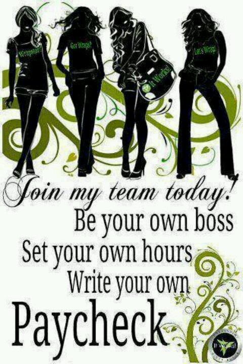 Do you want to make $300 a month or $3000 a month or more? It Works Global is the best decision I have made in a long time. It is allowing my family to do so many more things! The skies the limit with It Works!