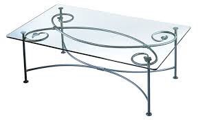 Wrought iron with glass