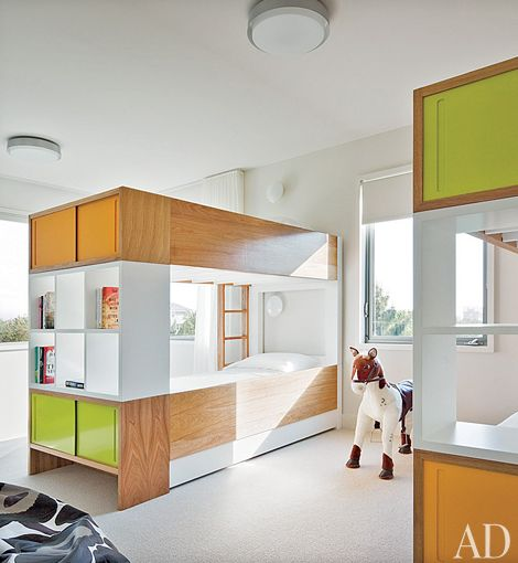 integrating a bunk bed with a wardrobe