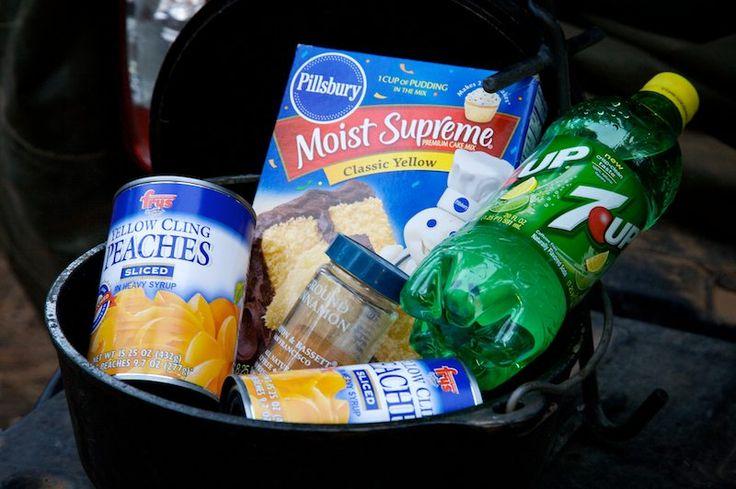 Recipe: Dutch Oven Peach Cobbler Dessert - Adventure Parents