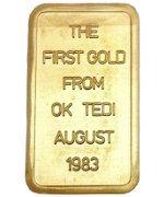 Degussa Goldbarren - Ok Tedi Mine - Rückseite