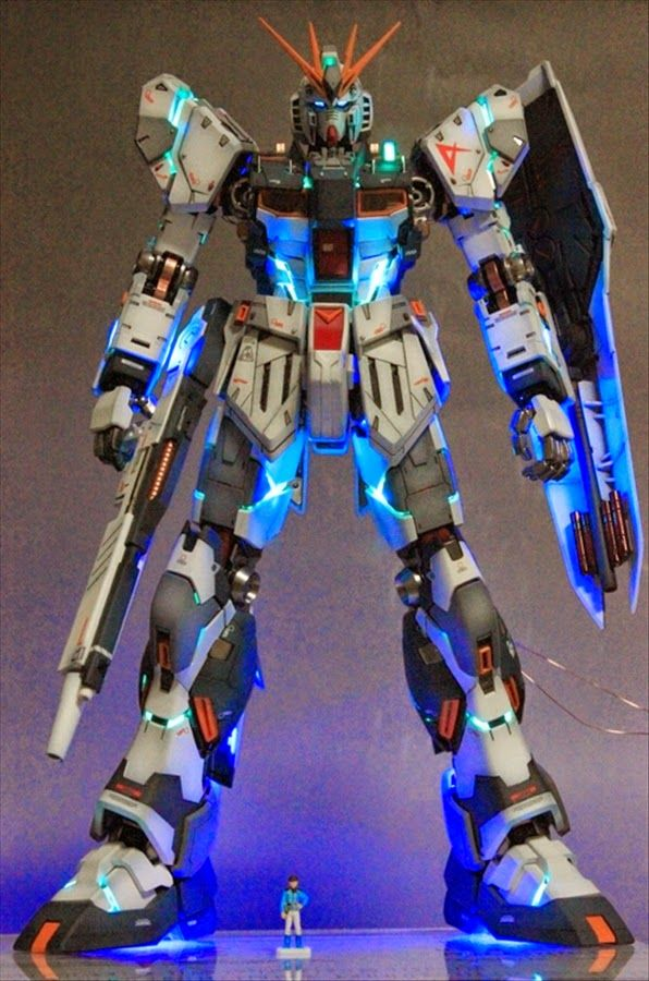 MG 1/100 nu Gundam Ver. Ka Custom Build with LED Lights - Gundam Kits Collection News and Reviews
