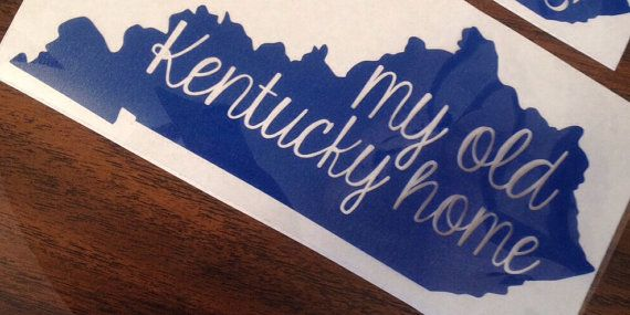 My Old Kentucky Home Heat Press Decal By Lsmonograms On