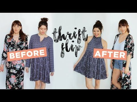 (1) LET'S MAKEOVER SOME THRIFT STORE DRESSES! - YouTube