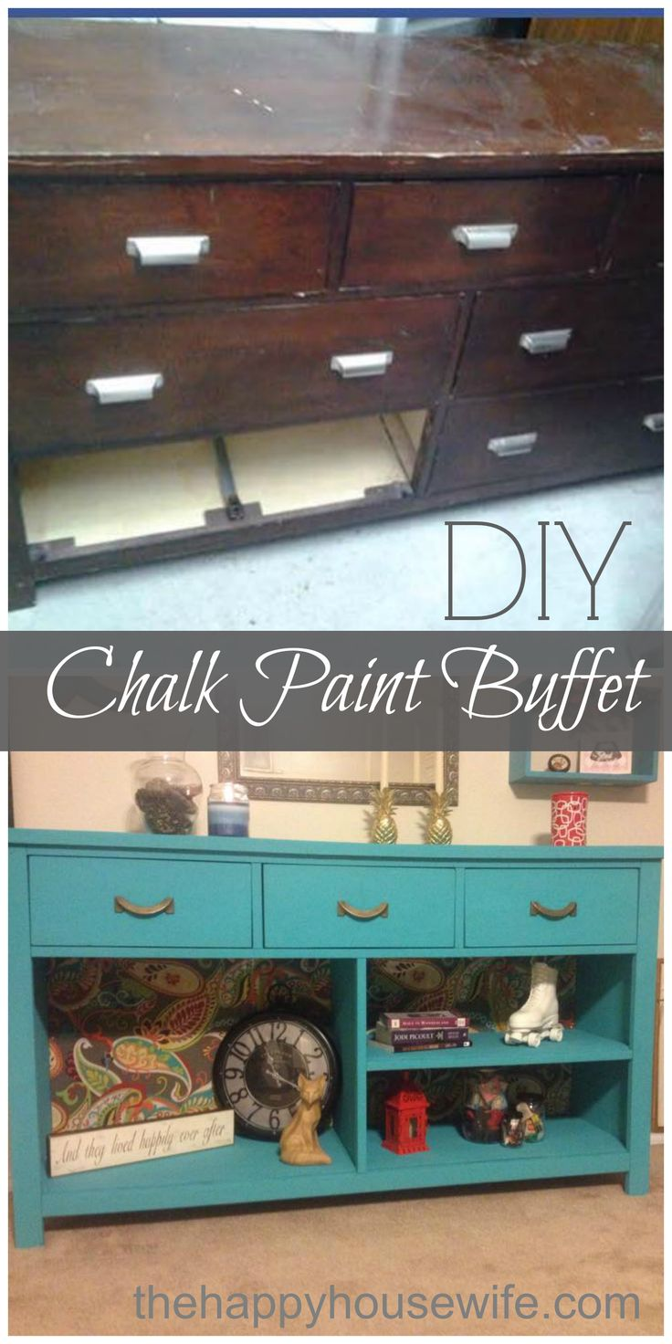 Simple transformation of an old broken dresser. All it takes is a fresh coat of chalk paint, new handles, some pretty paper/ fabric and a little creativity. Love how this turned out! It is definitely a statement piece!