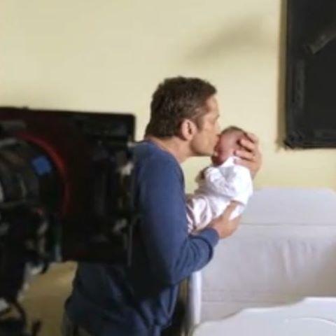 Gerard Butler cuuuuuuuuute Mike's baby London Has Fallen #londonhasfallen…