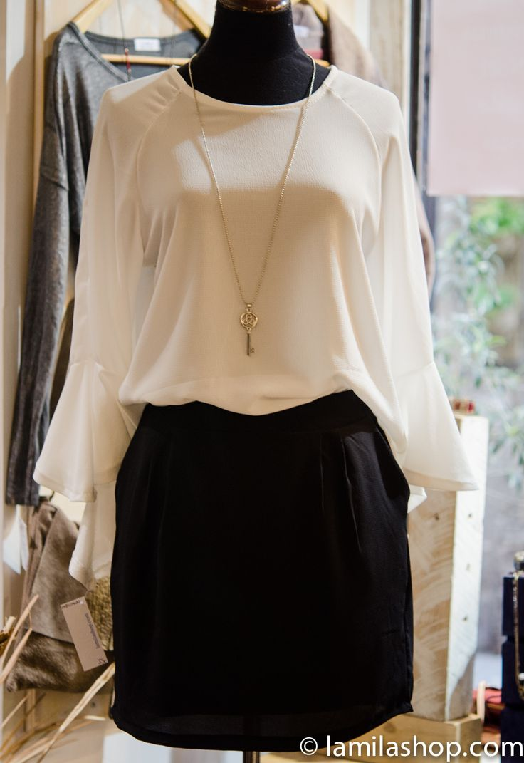 si eres mas discreta, un perfecto outfit en blanco y negro...