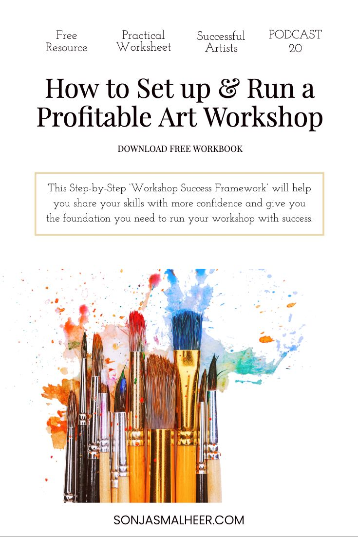 How To Set Up Run An Art Workshop Including Guidelines To Help You Art Workshop Selling Art Online Art Business