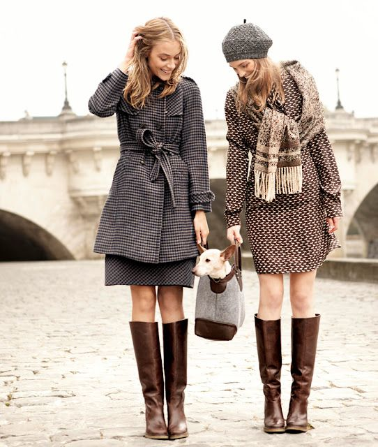 tweedy.: Knee High Boot, Fall Coats, Max Mara, Winter Fashion, Fall Fashion, Fall Outfit, Brown Boots, Fall Styles, Winter Coats