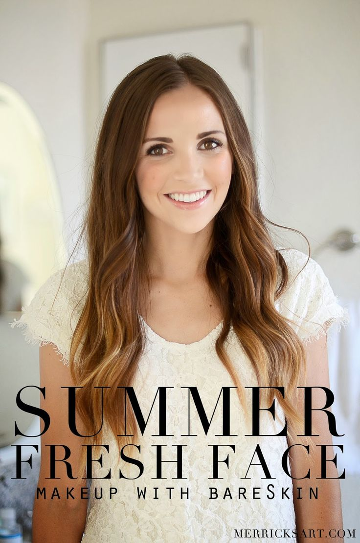 Summer Fresh Face Makeup with @bareMinerals new (and first ever) liquid foundation, bareSkin!