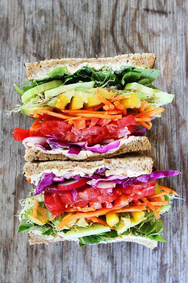 Rainbow Vegetable Sandwich Recipe