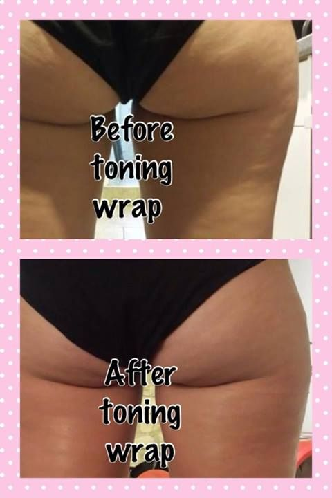 Our body toning wrap results!