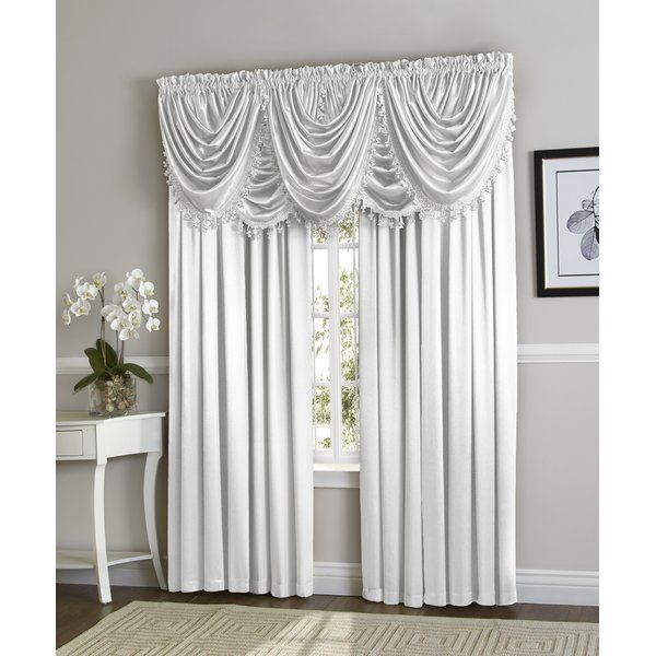 Weisberg Solid Semi Sheer Rod Pocket Curtain Panel With Images Rod Pocket Curtain Panels Panel Curtains Curtains