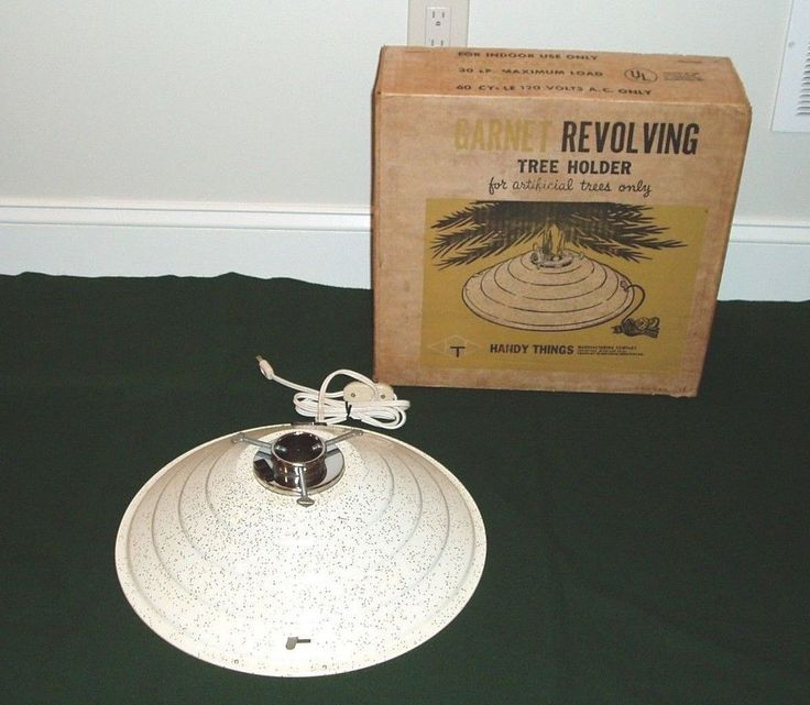 Musical Rotating Christmas Tree Stand: Vintage Garnet Musical Rotating Aluminum Artificial