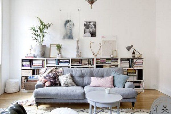 1000 Ideas About Bookcase Behind Sofa On Pinterest