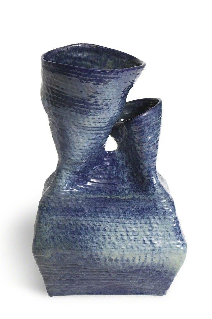 JANA MERLO Double-spout Coil Vase, 1978 Clay 19 × 11 × 8 in 48.3 × 27.9 × 20.3 cm Unique