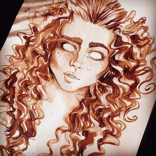 When she was a beautiful little girl... And she was in love... #love #beautiful #ginger #art