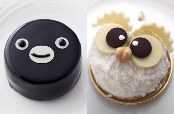 ホテルメトロポリタン「Suicaのペンギンケーキ」と「ふくろうケーキ」