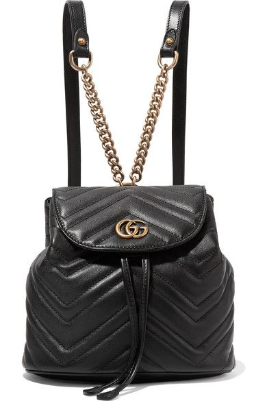 76f779f7c29c Gucci | GG Marmont quilted leather backpack | NET-A-PORTER.COM | 99 ...